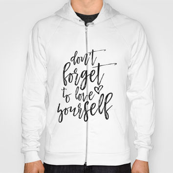 Digital Print, Typography Poster,Awesome Quote, Monochrome Art, Motivational Wall Decor Hoody by NathanMooreDesigns