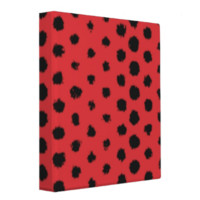 Red and black pattern binder