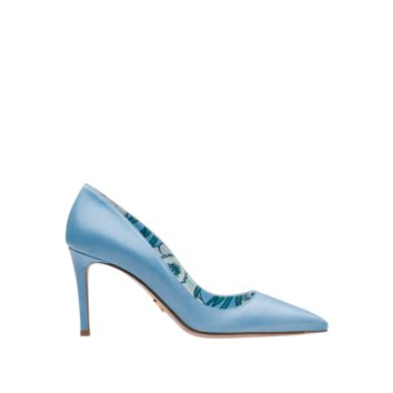 Calf leather pointy toe pumps