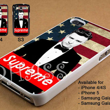 Justin Timberlake Supreme Design for iPhone 4/4s/5 Case, Samsung Galaxy S3/S4 Case