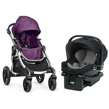 Baby Jogger City Select Travel System Stroller City Go Infant Car Seat Amethyst