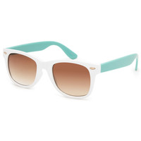 Blue Crown Two Tone Classic Sunglasses White One Size For Women 26326715001