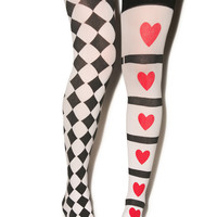 Harley Quin Thigh Highs BLACK One