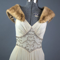 Vintage 1950s Authentic Mink Collar