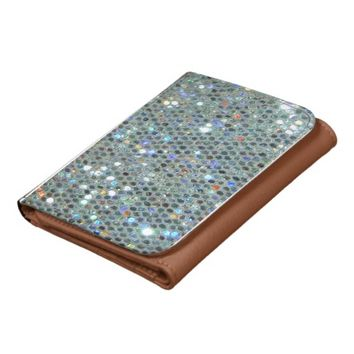 Glitzy Glitter Sparkly Silver Bling Wallets