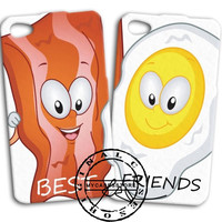 Funny Bacon and Eggs Cute Best Friend iPhone 4s iPhone 5 iPhone 5s iPhone 6 case, Samsung s3 Samsung s4 Samsung s5 note 3 note 4 case, Htc One Case
