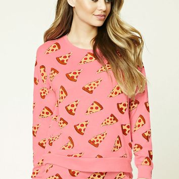 Pizza Print PJ Top