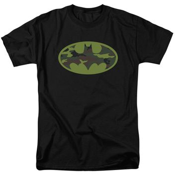 Mens Womens Batman - Camo Logo Short Sleeve Tee Shirt Adult 18/1