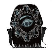 Phases of the Moon Eye Courier Bag
