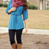 For The Applause Tunic: Blue