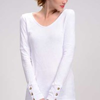 American Able Button Cuff Long Sleeve Shirt for Women Available in Multiple Colors 118533