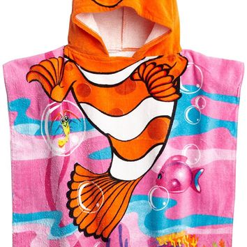 Northpoint Cute Clownfish Kids Hooded Beach Towel