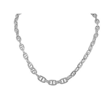 Fronay Cz Thick Marine Links Necklace
