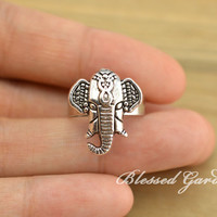elephant ring,elephant, cute rings,cute elephant, lucky jewelry,girlfriend gift,friendship ring,blessed garden