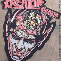 KREATOR patch & Giant Back patch , nice for vintage jacket or flannel shirt