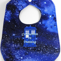 Doctor Who Companion in Training Tardis baby bib