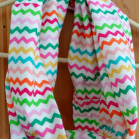 Colorful Chevron Infinity Scarf