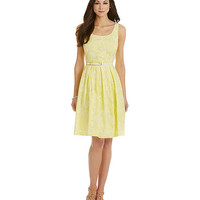 Antonio Melani Frances Belted Embroidered A-Line Dress | Dillards