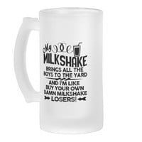 Milkshakes and Smoothies 16 Oz Frosted Glass Beer Mug