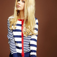 'The Lila' Striped Long Sleeve Cardigan