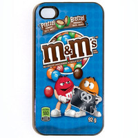 iPhone 4 4s M&M Pretzel Hard Case Comes in Black or by KustomCases
