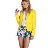 Promo- Yellow Livin On The Edge Blazer