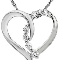 Jewelry & Accessories | Fast & Fab!: 65% Off Diamond Jewelry | 14 Kt. White Gold Diamond Heart Pendant | Lord and Taylor