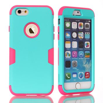 "Phone Cases Cover For iPhone 6 4.7""/6 Plus 5.5 inch/iPod Touch 5/6  Nice Multi Colors Impact Armor Hard & Soft Rubber Hybrid"