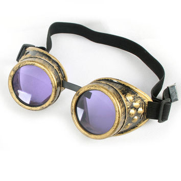 Unisex Gothic Vintage Vitoriano Style Steampunk Goggles 7 Colors Sunglasses Dress Decor Welding Punk Gothic Glasses