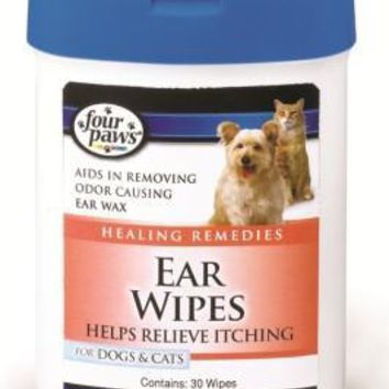 Four Paws Ear Wipes For Dogs & Cats (30 Pack)