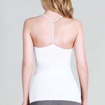 Skinny Y-Back Camisole - White
