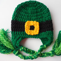 St. Patricks Day - Baby Hat - Leprechaun  Hat - Green