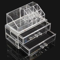 Jewelry Holders Transparent T Layer Drawers Acrylic Cosmetic Organizer