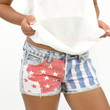 Buckhead Denim Print USA Flag Shorts