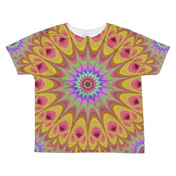 Painted Swirl Mandala All-over Kids Sublimation T-shirt