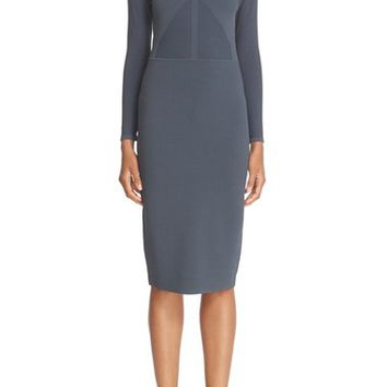 Narciso Rodriguez Double Knit Midi Sheath Dress | Nordstrom