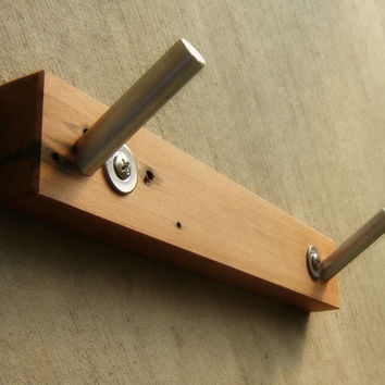 Robe Hook in Wood and Metal