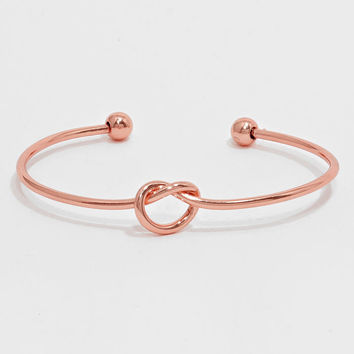 Rose Gold Love Knot Bracelet