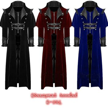 Assassin's Creed Long Jacket Gothic Steampunk VTG Regency Highwayman
