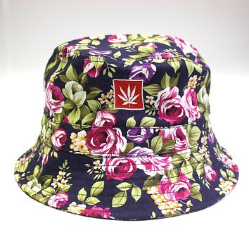 PURPLE FLOWER BUCKET HAT