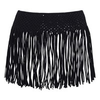 KENDALL + KYLIE at Topshop Macramé Fringe Cover-Up Skirt | Nordstrom