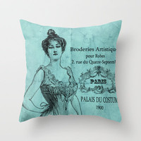 French Corset Throw Pillow by Adidit | Society6
