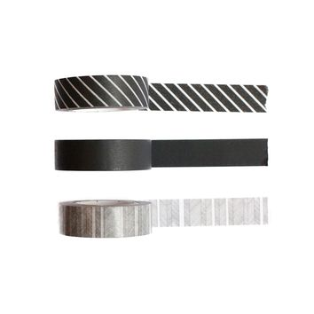Black Washi Tape - Set Of Three
