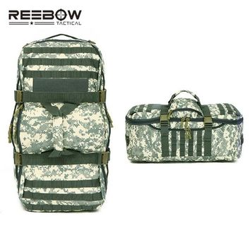 Sports gym bag 60L Big Capacity Mil-spec Nylon Hand Backpack Men Women Outdoor MOLLE Travel Duffle Luggage Bag Sports Camping Hunting Training KO_5_1