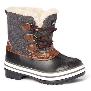 JANDS by Transco Gray Lace-Up Cold Weather Boot