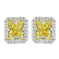 Chopard 3.45ctw Natural Yellow Diamond Stud Earrings