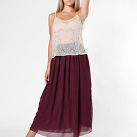 Chiffon Double-Layered Full Length Skirt | Skirts | New & Now's Women | American Apparel