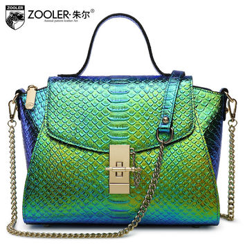 ZOOLER Female Fashion Wings Tote Bag Women Small Chains Crocodile Pattern Genuine Leather Handbags Lady Messenger Shoulder Bags