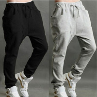 US S M L 3 Color HOT Men Casual Hip-Hop Taper Dance Harem Baggy Sport Sweat Pants Trousers Slacks [9305658567]