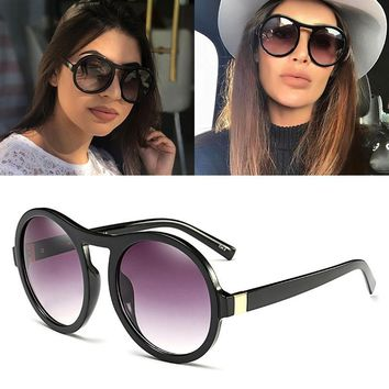 JackJad 2017 Fashion Women Oversized Vintage Round Style Sunglasses Gradient Popular Street Snap Sun Glasses Oculos De Sol 92103